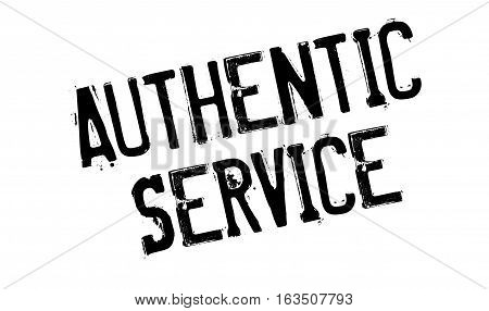 Authentic Service rubber stamp. Grunge design with dust scratches. Effects can be easily removed for a clean, crisp look. Color is easily changed.