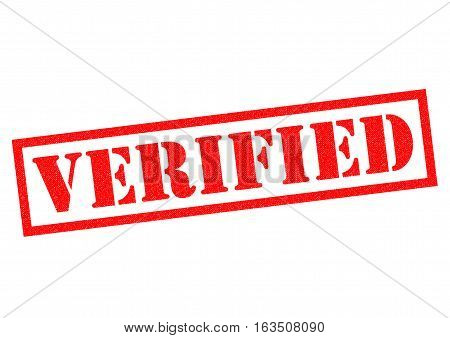 VERIFIED red Rubber Stamp over a white background.