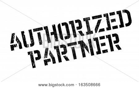 Authorized Partner rubber stamp. Grunge design with dust scratches. Effects can be easily removed for a clean, crisp look. Color is easily changed.