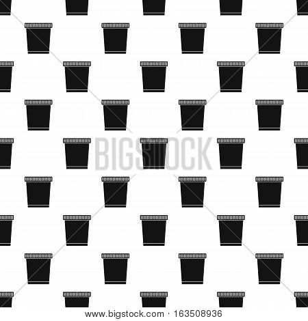 Garbage can pattern. Simple illustration of garbage can vector pattern for web