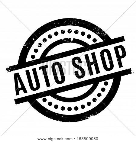 Auto Shop rubber stamp. Grunge design with dust scratches. Effects can be easily removed for a clean, crisp look. Color is easily changed.
