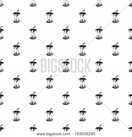 Apple core pattern. Simple illustration of apple core vector pattern for web