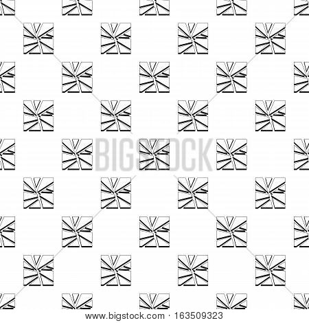 Broken glass pattern. Simple illustration of broken glass vector pattern for web
