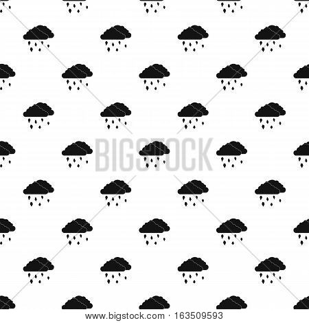 Clouds and hail pattern. Simple illustration of clouds and hail vector pattern for web