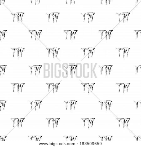 Icicles pattern. Simple illustration of icicles vector pattern for web