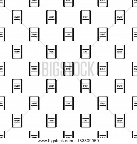 Pouch of cement pattern. Simple illustration of pouch of cement vector pattern for web
