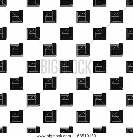 Architectural design of house pattern. Simple illustration of architectural design of house vector pattern for web