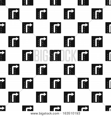Sign right way pattern. Simple illustration of sign right way vector pattern for web
