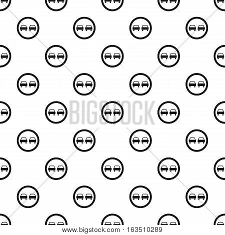Sign overtaking pattern. Simple illustration of sign overtaking vector pattern for web