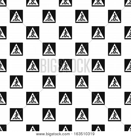 Sign pedestrian crossing pattern. Simple illustration of sign pedestrian crossing vector pattern for web