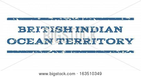 British Indian Ocean Territory watermark stamp. Text caption between horizontal parallel lines with grunge design style. Rubber seal stamp with dirty texture.