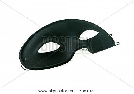 black mask isolated on white poster