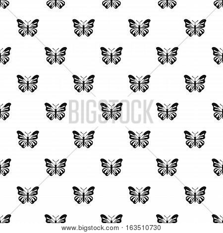 Butterfly with striped ornament on wings pattern. Simple illustration of butterfly with striped ornament on wings vector pattern for web