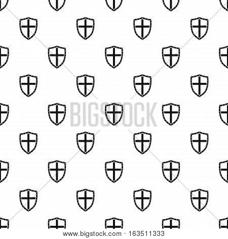 Combat shield with cross pattern. Simple illustration of combat shield with cross vector pattern for web