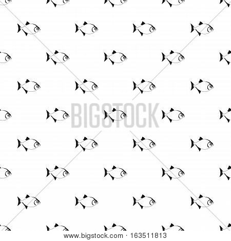 Vampire fish pattern. Simple illustration of vampire fish vector pattern for web