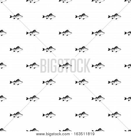 Perch fish pattern. Simple illustration of perch fish vector pattern for web