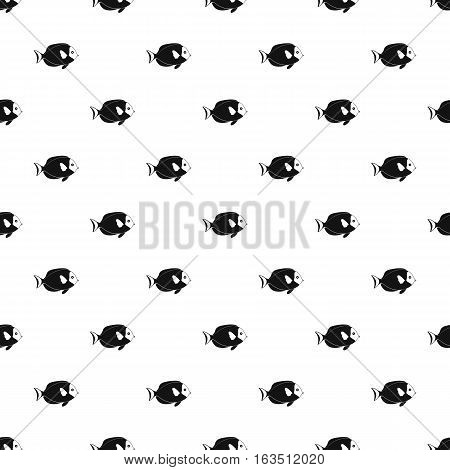 Surgeon fish pattern. Simple illustration of surgeon fish vector pattern for web