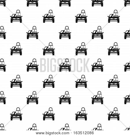 Car is under protection pattern. Simple illustration of car is under protection vector pattern for web