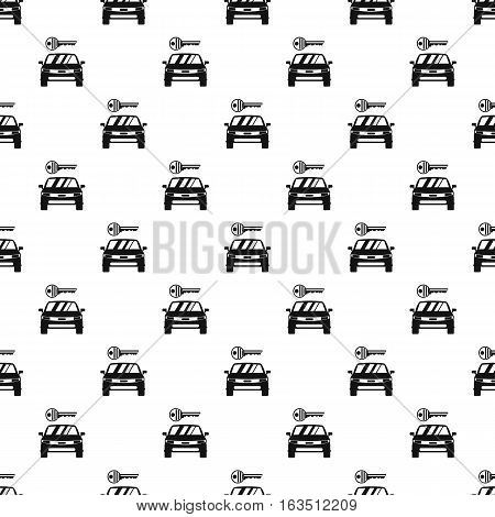 Car from impound yard pattern. Simple illustration of car from impound yard vector pattern for web
