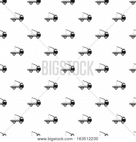 Tow truck pattern. Simple illustration of tow truck vector pattern for web