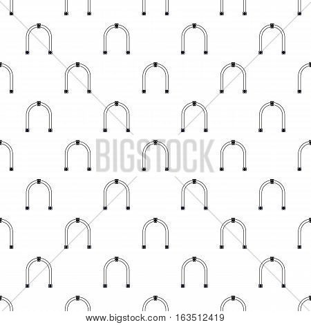 Steel arch pattern. Simple illustration of steel arch vector pattern for web