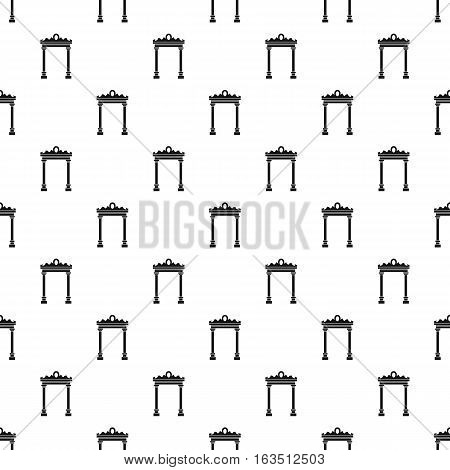 Ornamental arch pattern. Simple illustration of ornamental arch vector pattern for web