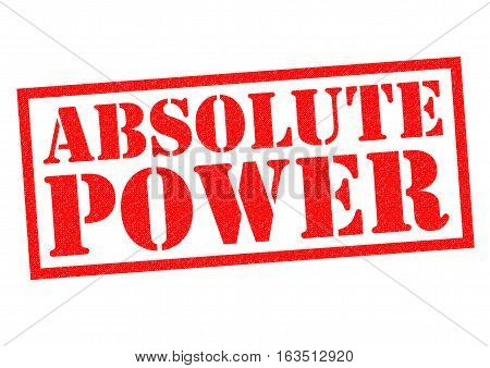 ABSOLUTE POWER red Rubber Stamp over a white background.