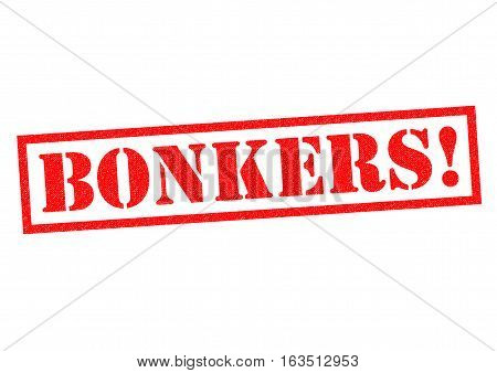 BONKERS! red Rubber Stamp over a white background.