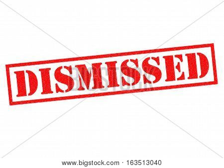 DISMISSED red Rubber Stamp over a white background.