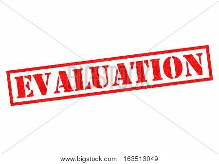 EVALUATION red Rubber Stamp over a white background.