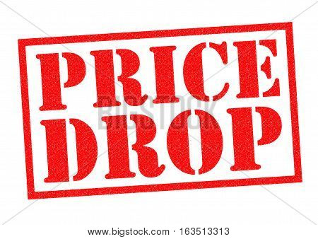 PRICE DROP red Rubber Stamp over a white background.