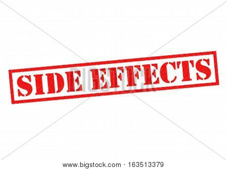 SIDE EFFECTS red Rubber Stamp over a white background.