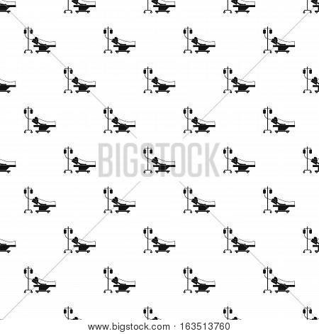 Patient in bed on drip pattern. Simple illustration of patient in bed on drip vector pattern for web
