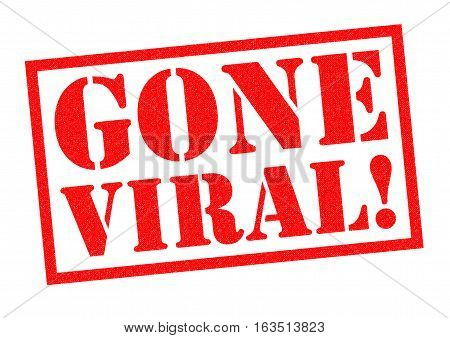 GONE VIRAL! red Rubber Stamp over a white background.
