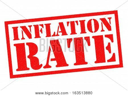INFLATION RATE red Rubber Stamp over a white background.