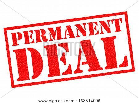PERMANENT DEAL red Rubber Stamp over a white background.