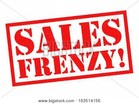 SALES FRENZY! red Rubber Stamp over a white background.