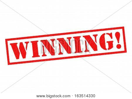 WINNING! red Rubber Stamp over a white background.