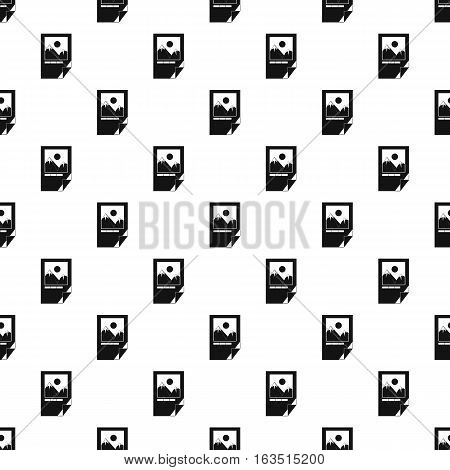 Printed picture pattern. Simple illustration of printed picture vector pattern for web