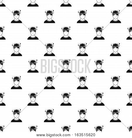 Male avatar and stars from blow pattern. Simple illustration of male avatar and stars from blow vector pattern for web