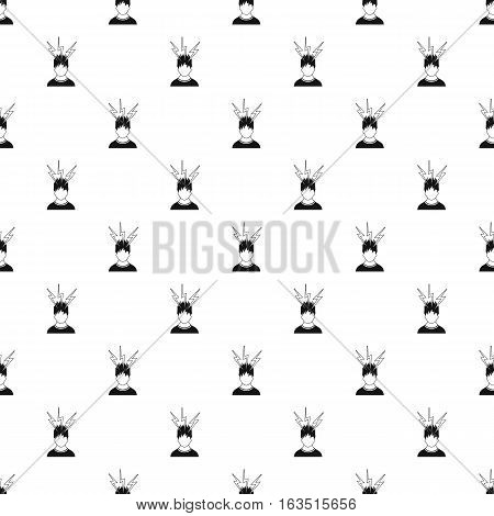 Male avatar and lightning pattern. Simple illustration of male avatar and lightning vector pattern for web
