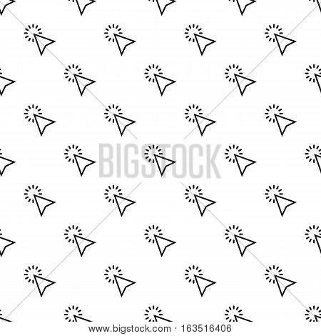 Cursor clicks pattern. Simple illustration of cursor clicks vector pattern for web