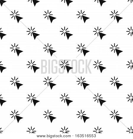 Cursor of mouse arrow clicks pattern. Simple illustration of cursor of mouse arrow clicks vector pattern for web