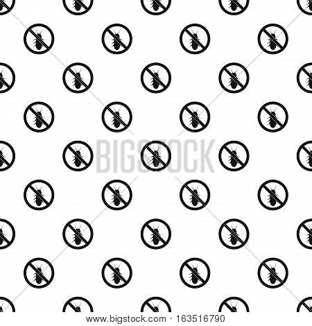 Prohibition sign coleoptera pattern. Simple illustration of prohibition sign coleoptera vector pattern for web