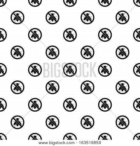 Prohibition sign flies pattern. Simple illustration of prohibition sign flies vector pattern for web