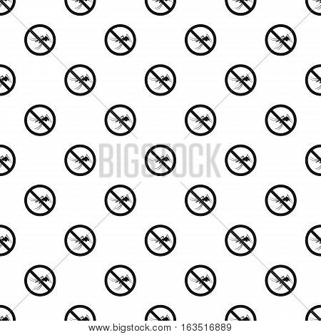 Prohibition sign mosquitoes pattern. Simple illustration of prohibition sign mosquitoes vector pattern for web