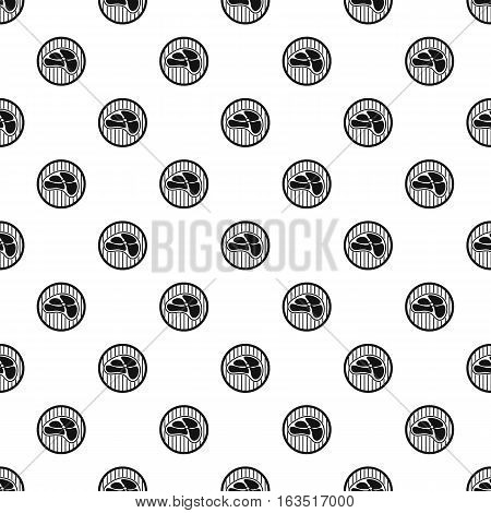 Piece of meat veal pattern. Simple illustration of piece of meat veal vector pattern for web