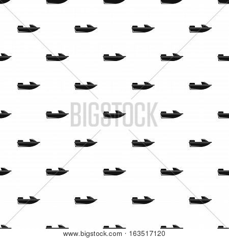 Sports powerboat pattern. Simple illustration of sports powerboat vector pattern for web