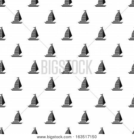 Yacht with sails pattern. Simple illustration of yacht with sails vector pattern for web