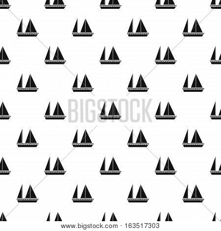 Sailing boat pattern. Simple illustration of sailing boat vector pattern for web